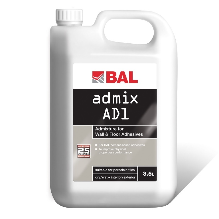 bal admix ad1 tiling products bal adhesives. Black Bedroom Furniture Sets. Home Design Ideas