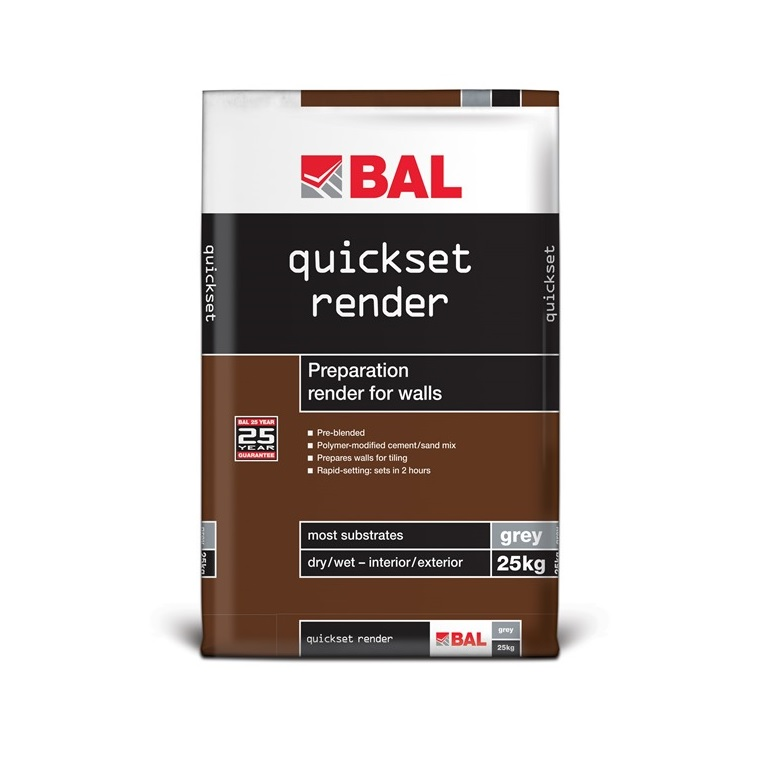 BAL Quickset Render Products For Specifiers BAL Adhesives