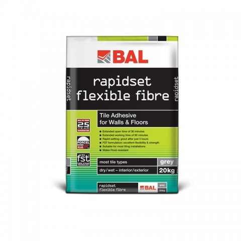 rapidset flexible fibre (grey 20kg)
