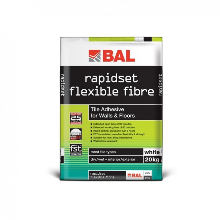 rapidset flexible fibre (white 20kg)