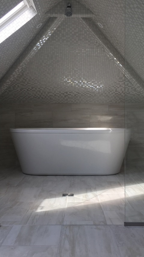 Hale Guest Ensuite stunning mosiac tiled wetroom in attic room 1 png