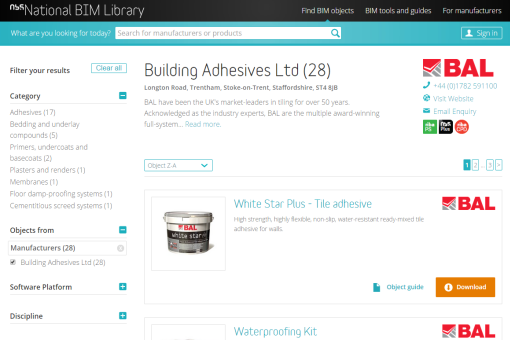 Building Adhesives Ltd   NBS National BIM Library