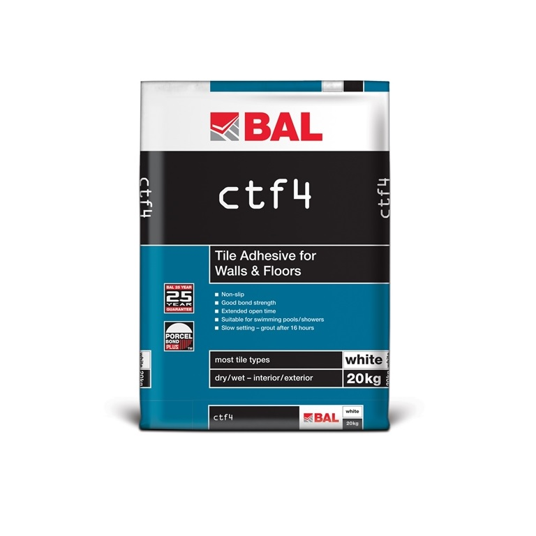 bal ctf4 tiling products bal adhesives. Black Bedroom Furniture Sets. Home Design Ideas