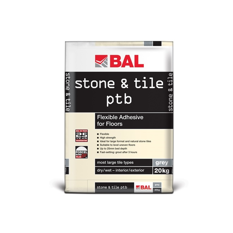 bal stone tile ptb tiling products bal adhesives. Black Bedroom Furniture Sets. Home Design Ideas