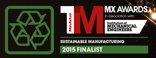 Sustainable Manufacturing Finalist - TMMX Awards 2015 small