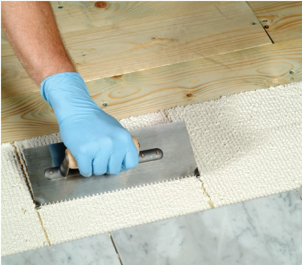 Tiling Onto Wood