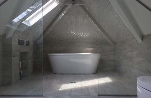 Hale Guest Ensuite stunning mosiac tiled wetroom in attic room 1
