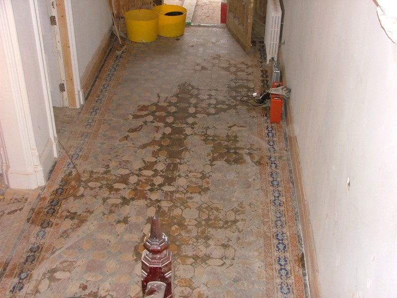 Bowden-house-main-hall-floor-before-restoration
