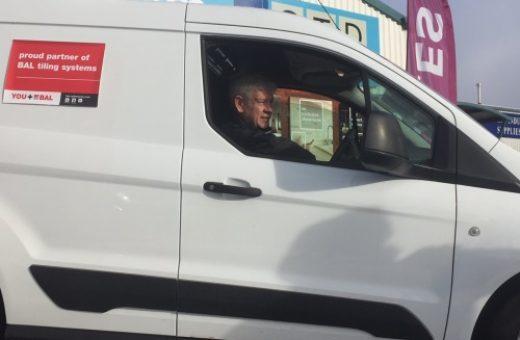 Gordon Mitchell in his new van WEB