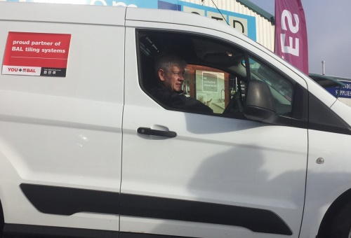 Gordon Mitchell in his new van WEB