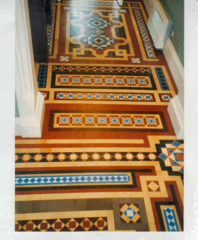 Victorian-Hotel-geometric-tiled-floor-restored